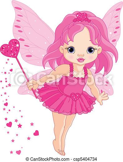 Süße kleine Babyliebe-Fee - csp5404734
