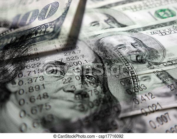 schaubilder, stock market, geld - csp17716092