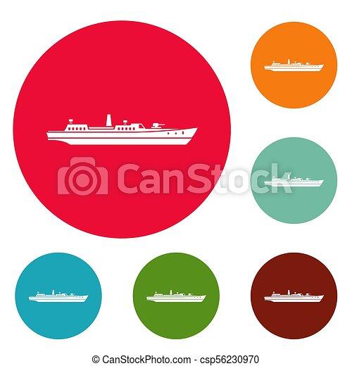Schiffskampf-Icons sind gesetzt. - csp56230970