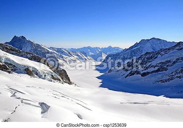 schweiz, gletscher, groß, aletsch - csp1253639