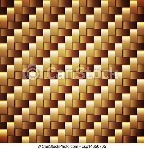Seamless Golden webbed Vektor Quadrat-Strukturen. - csp14650765