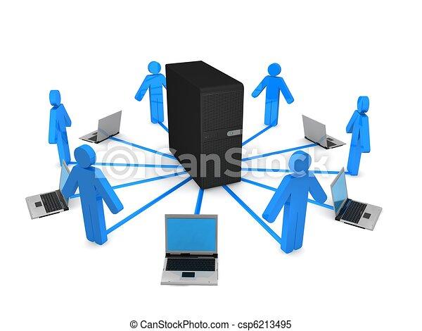 Server-Konzept - csp6213495