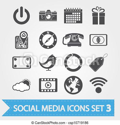 sozial, medien, 3, satz, heiligenbilder - csp10719186