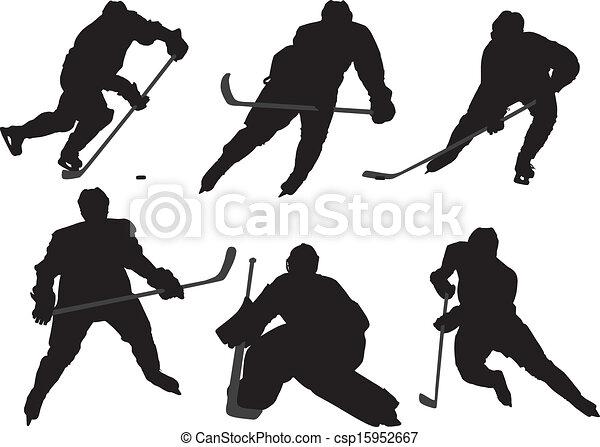 spieler, hockey, eis - csp15952667