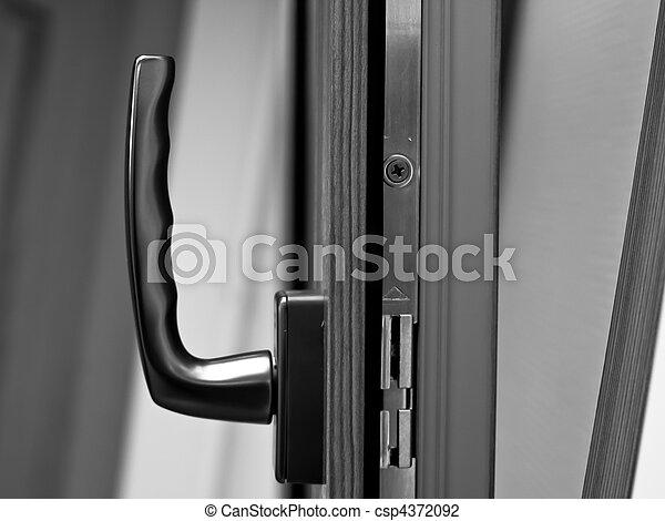 stiel, glasfaser, fenster., fenster, geöffnet - csp4372092