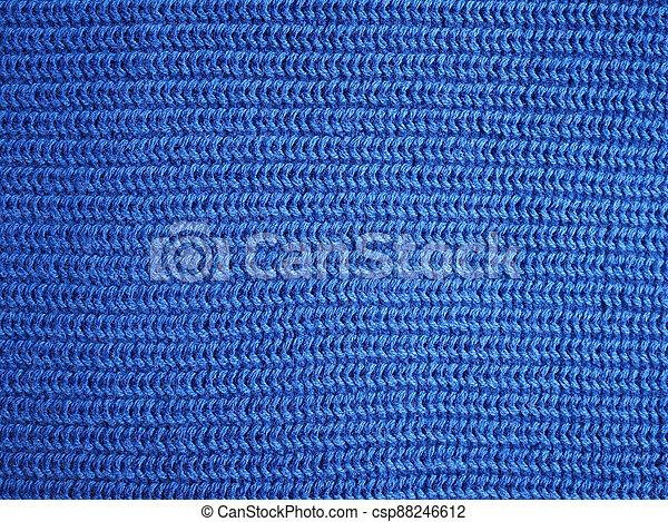 stoff, blaues, beschaffenheit, hintergrund - csp88246612