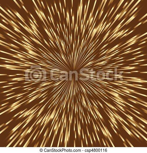 Stylisiertes goldenes Feuerwerk, Licht platzte in der Mitte des Quadratbildes. - csp4800116