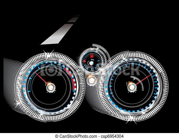 Tachometer, Tachometer und Kraftstoffebenensor - csp6954304