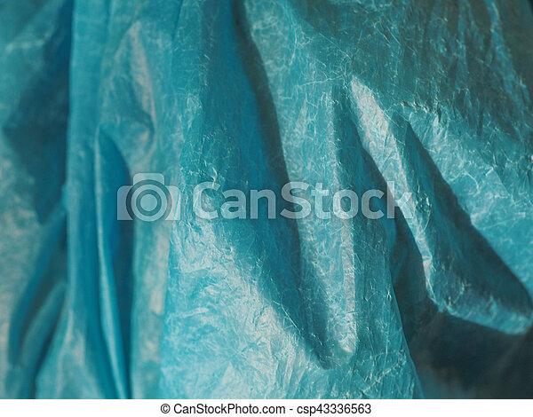 tasche, hintergrund, beschaffenheit, plastik, blaues - csp43336563