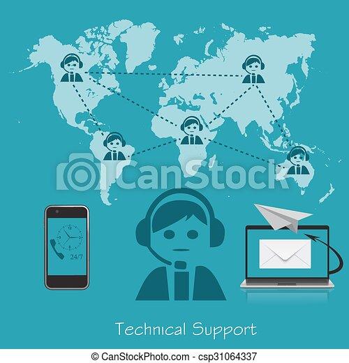Technische Unterstützung. - csp31064337