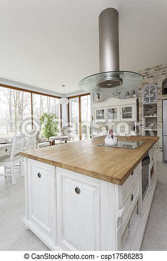 Toskana - Küchenherd. - csp17586283