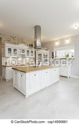Toskana - weiße Küche - csp14590661