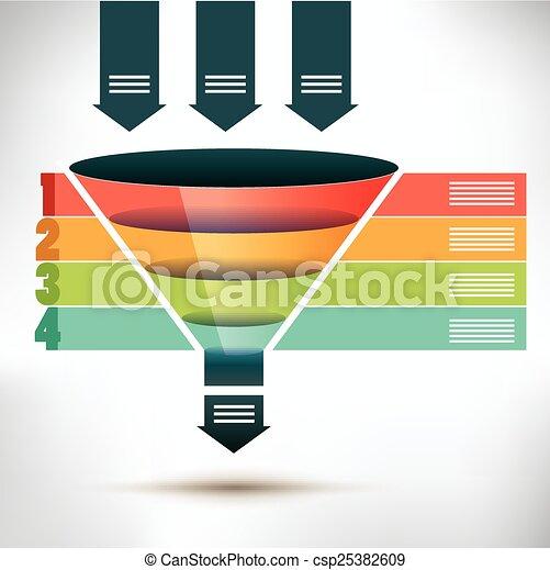 Trichterstromdiagrammvorlage. - csp25382609