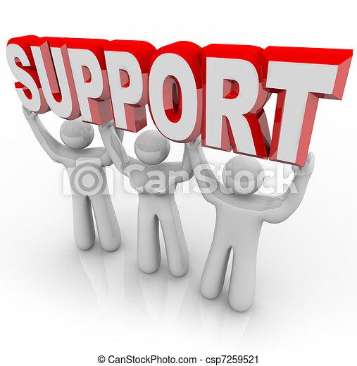 Unterstützt Menschen, die eure Last in schwierigen Zeiten aufheben - csp7259521