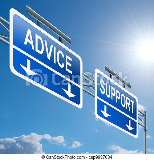 Unterstützung und Rat. - csp9937034