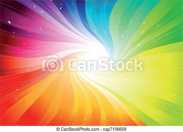 Vector Regenbogenfarbene Stellarbeschleunigung - csp7106659
