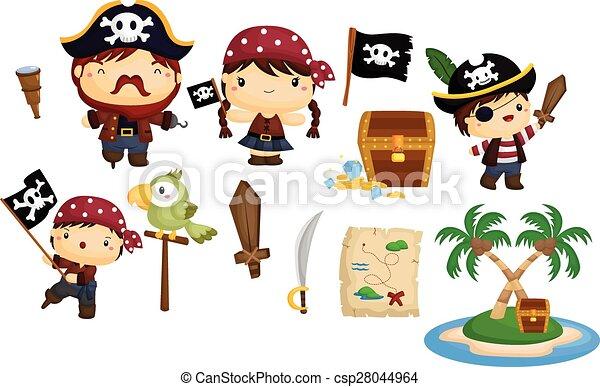Piratenvektor eingestellt - csp28044964