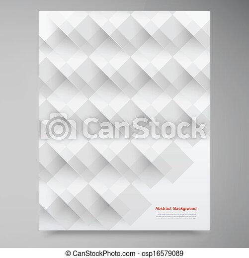 Vektor weiße Quadrate. Zurückfahren - csp16579089