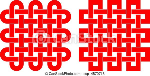Viereckiges Muster - csp14570718