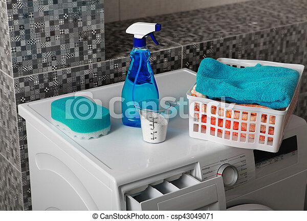 Waschpulver zum Waschen - csp43049071