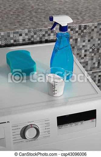 wäscherei, waschpulver, tag - csp43096006