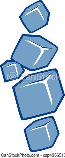 würfel, eis, ikone - csp43565136