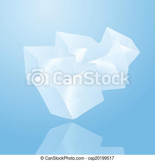 Fünf Eiswürfel - csp20199517