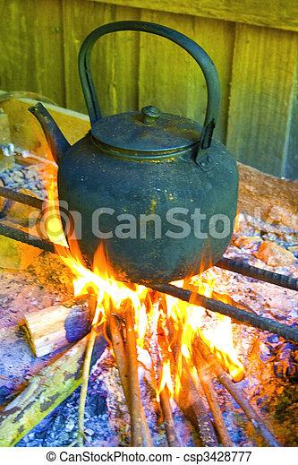 Wasser kochen - csp3428777