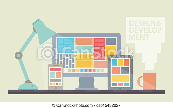 Webdesign Illustration - csp15432027