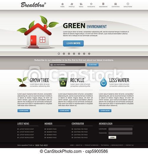 Webdesign-Websiteelement-Temperatur - csp5900586
