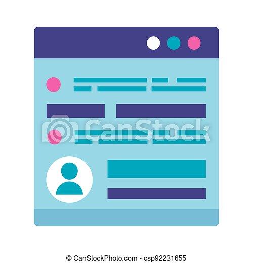 webpage, schnittstelle, benutzer - csp92231655