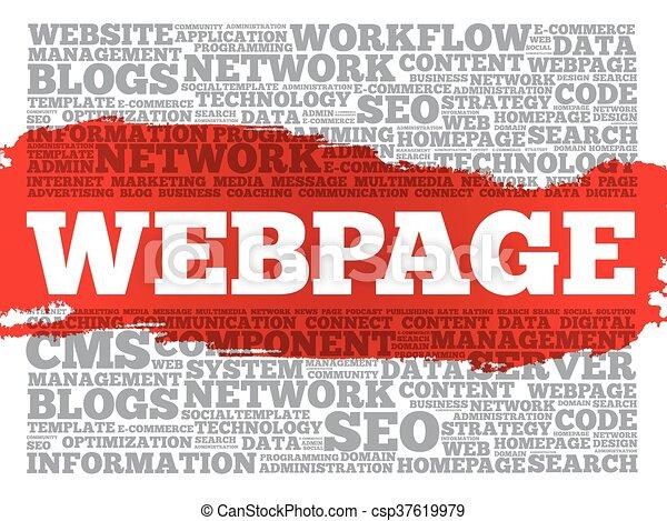 Webpage Wortwolke. - csp37619979