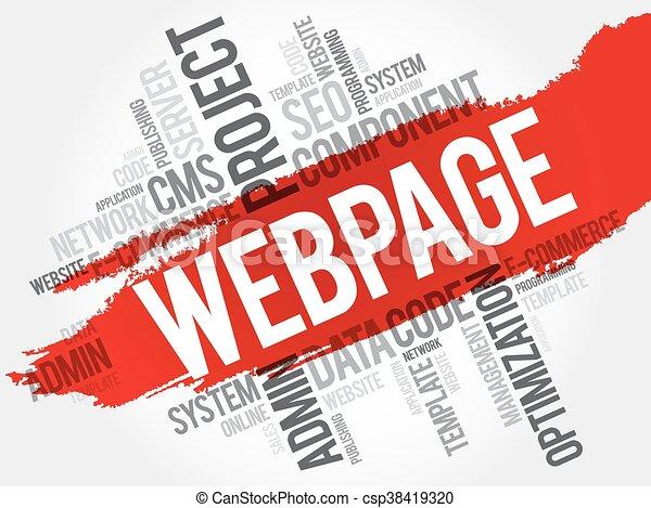 Webpage Wortwolke. - csp38419320