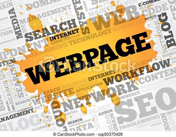 Webpage Wortwolke. - csp50370428