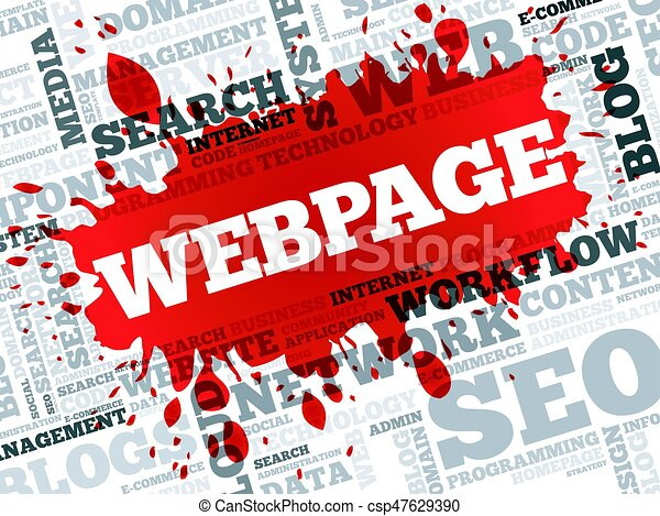 Webpage Wortwolke. - csp47629390