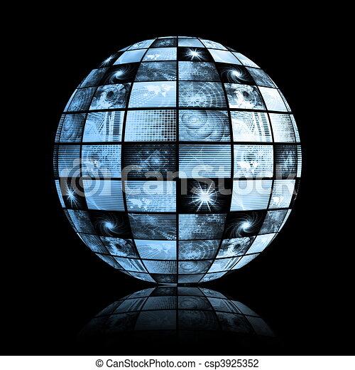 Weltweite Welt der Medientechnologie - csp3925352