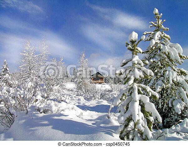 winter, kabine - csp0450745