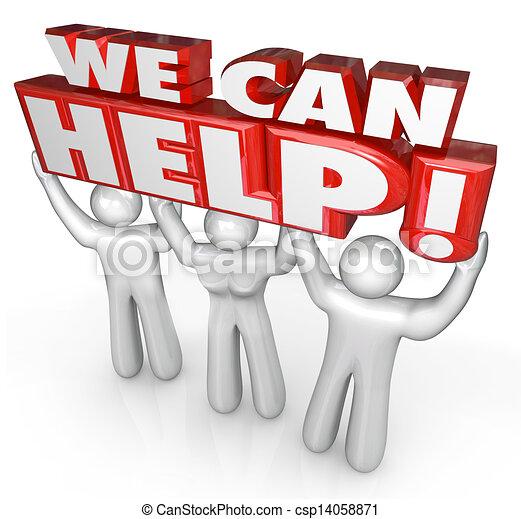 Wir können Kundendiensthelfern helfen - csp14058871