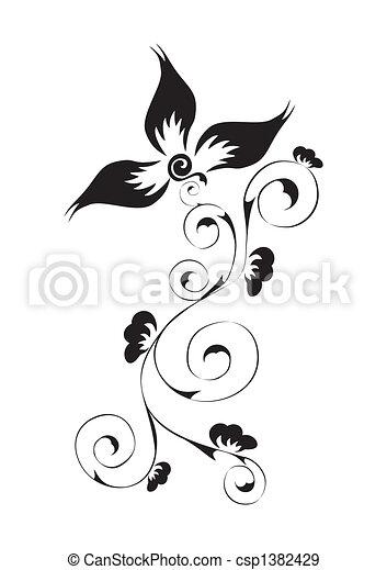 Wirbels Blumenmuster - csp1382429