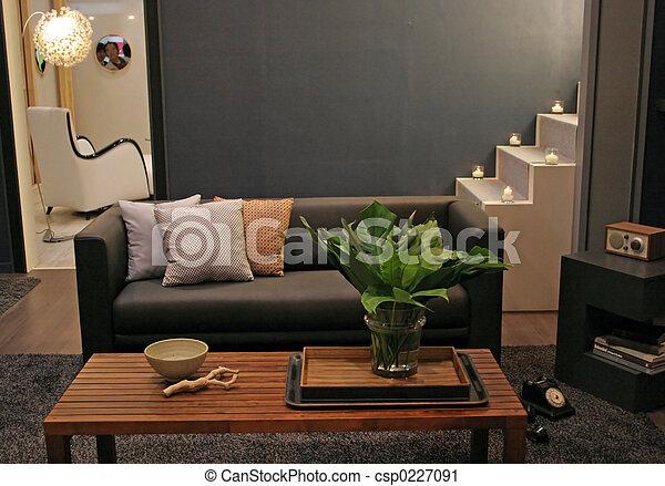 Wohnzimmer - Innenräume - csp0227091