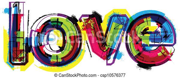 wort, liebe, künstlerisch - csp10576377