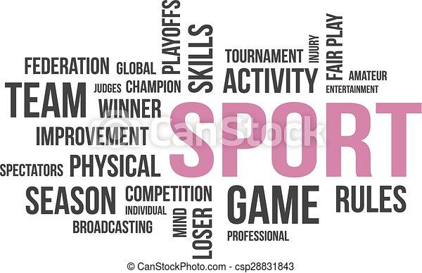 Wortwolke - Sport - csp28831843
