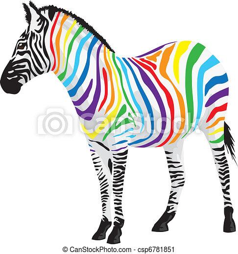 zebra., verschieden, streifen, colors. - csp6781851