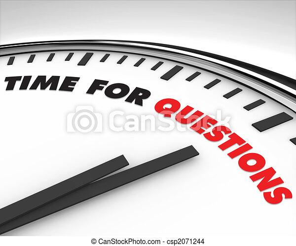Zeit für Fragen - Uhr. - csp2071244