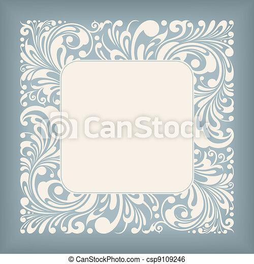 Zierde mit Quadratlabel - csp9109246