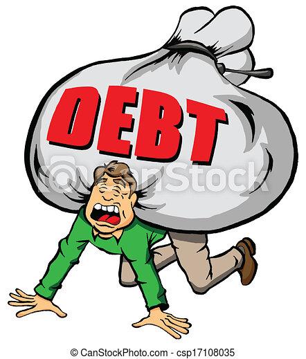 Zu viel Schulden. - csp17108035